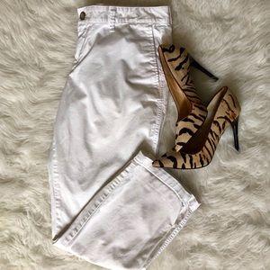 Gap girlfriend khakis size 8, white